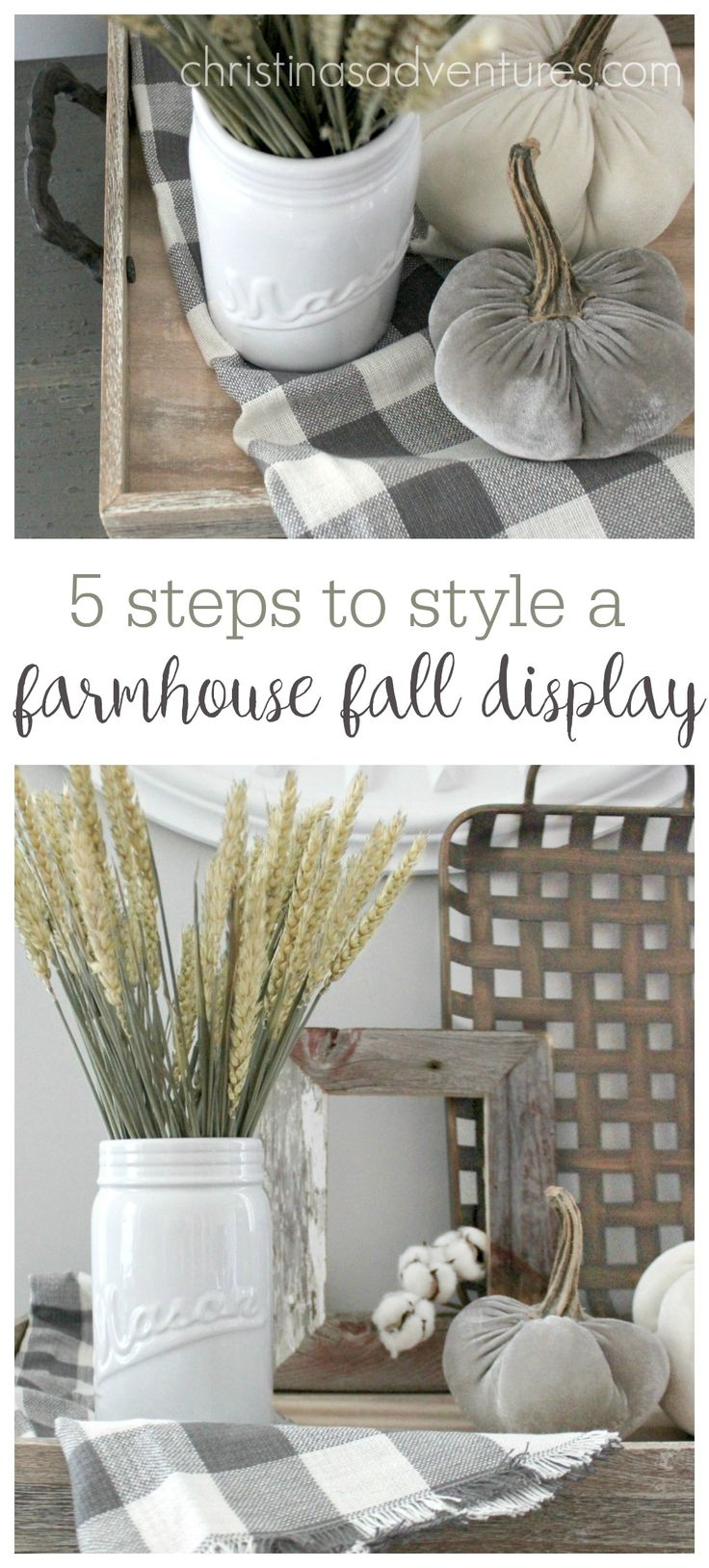 great simple tips to style a farmhouse fall display!