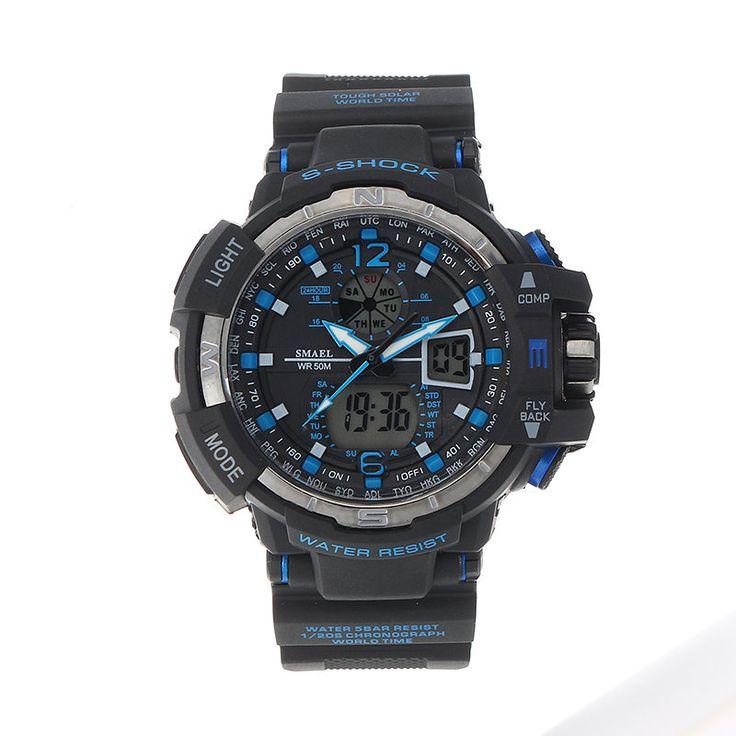 SMAEL Charming Sport Multifunctional Electronic Luminous Week Watch