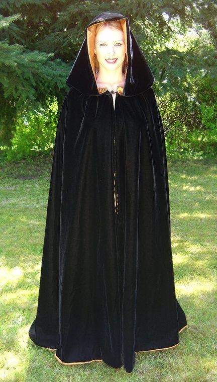 Moon Witch S Cloak Designer Black Velvet Cloak My