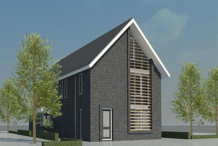 Verbouw jaren 70 zadeldak woning schagen nico dekker ontwerp bouwkunde pinterest modern - Bungalow ontwerp hout ...