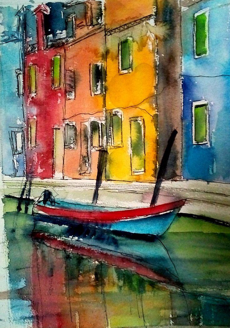 Watercolor Burano