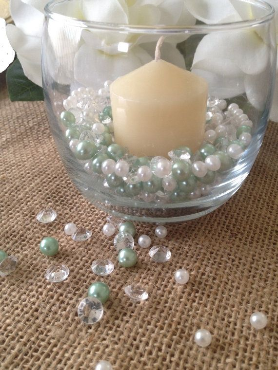 Diamonds Pearl Fillers Perfect For Votive By Floatingpearls Table Confettivase