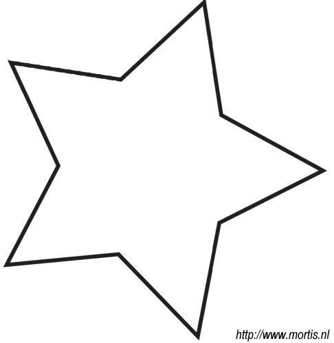 kleurplaat kerstmis ster