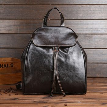 2017 new vintage genuine leather Backpack women casual travel backpack Real Crazy Horse Cowhide School Gril Daily Backpack