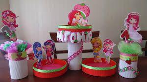 Resultado de imagen para adornos de frutillita para cumpleaños