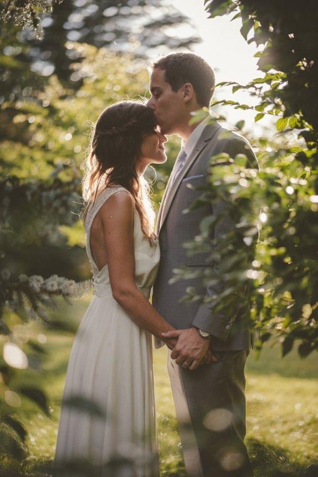 Un mariage guinguette géométrique en Normandie