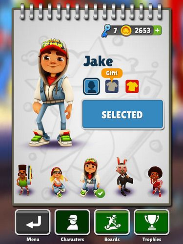 Subway Surfers Profile & Avatar: screenshots, UI