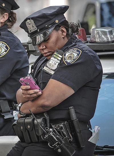 The use of smartphones and social media devices while on duty.