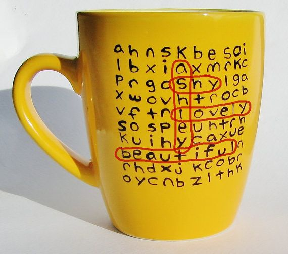 Father's Day Personalized Mug Word Search Ceramic Mug (via: 39Cups)