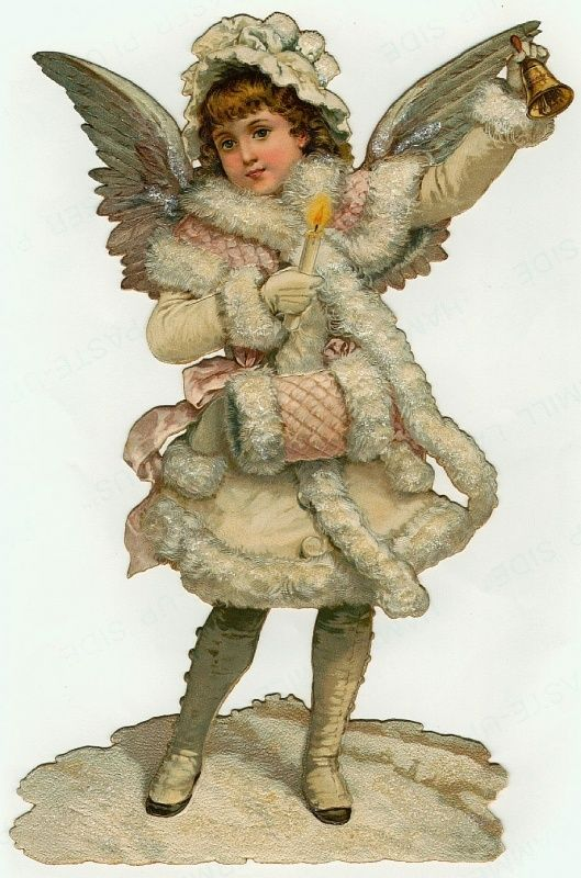 Victorian Snow Angel ~ die cut