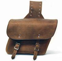 Leatherworks, Inc. Distressed Brown Throw-Over Saddlebags