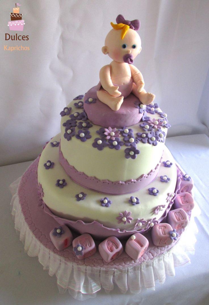 Torta Baby Shower #TortaBabyShower #TortasDecoradas #DulcesKaprichos