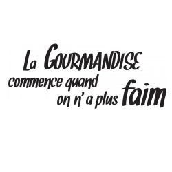 Sticker La gourmandise