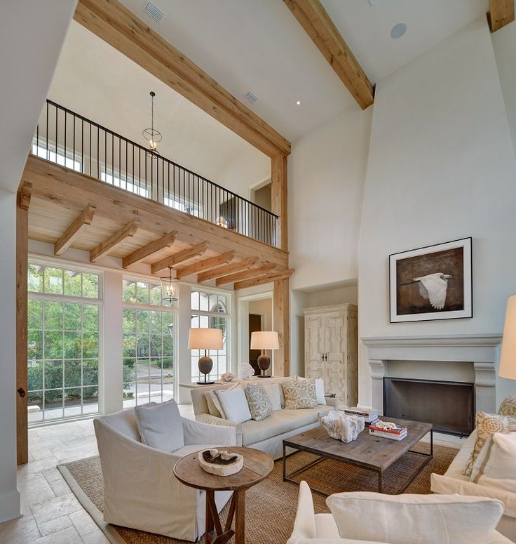 Family Room Additions: Tall Ceiling Living Room, Home