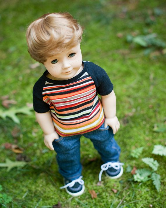 American Girl Boy Doll Clothes  Boycut Jeans and by Minipparel, $28.00