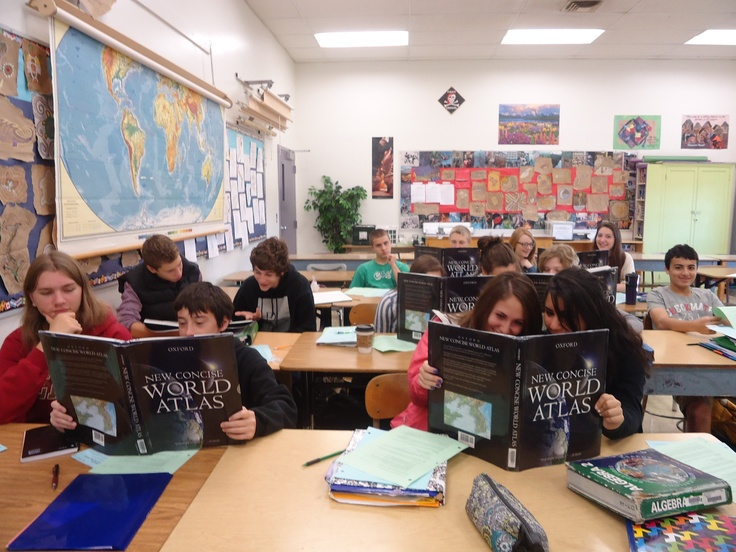 Deon Saraceno's 9th grade Global Geography class reading