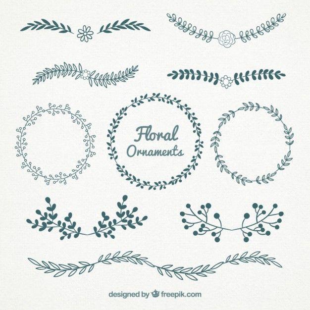 Belos gráficos florais gratuitos Vetor grátis