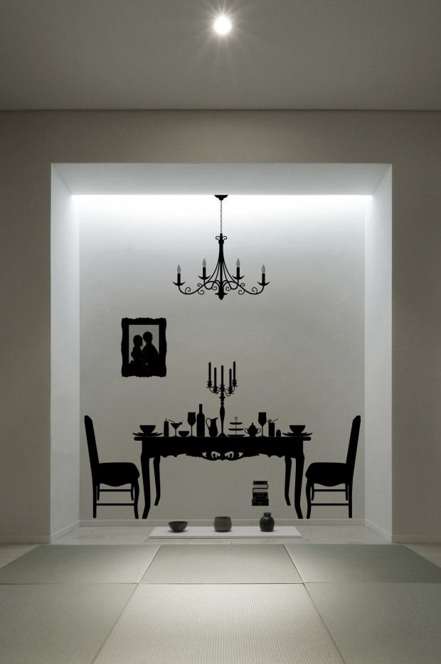 Furniture silhouettes wall decals