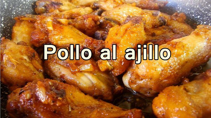 POLLO FRITO AL AJILLO - Recetas de pollo Faciles y rapidas y Economicas ...
