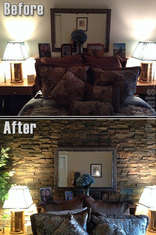 57 best Before and After images on Pinterest Faux stone panels