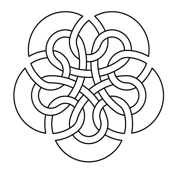 Celtic knot-work by Peter Mulkers