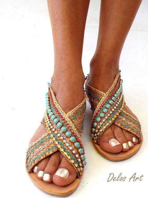 65d7e4e2ee4 Greek Leather Sandals Sofia Handmade sandals
