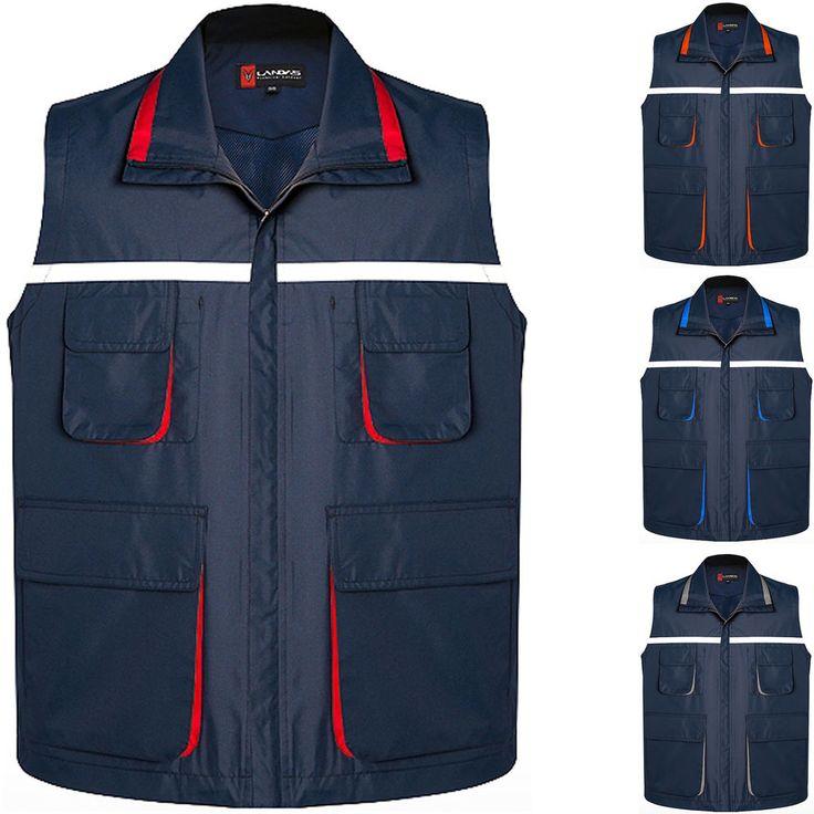 Mens Multi Pockets Bouncer Ranger Vest Patrol Security Guard Safety Hi Vis Vests #hellobincom
