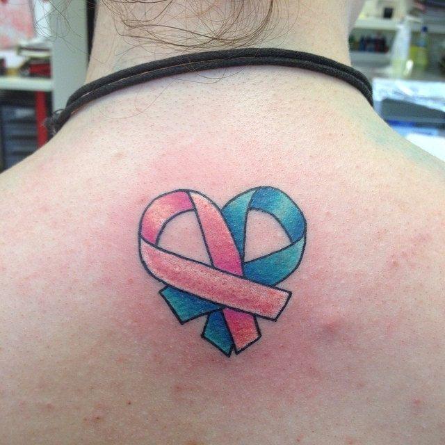 Heart Ribbon tattoo. #ribbon #heart #cancer #brestcancer #… | Flickr - Photo Sharing!