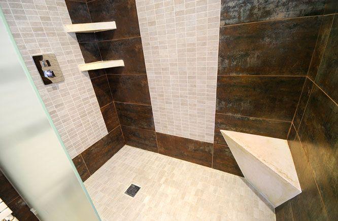 Une douche l 39 italienne tout confort id es future salle d eau pint - Douche italienne fermee ...