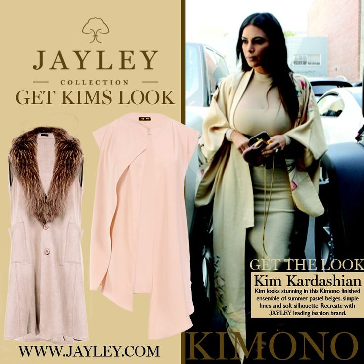 "JAYLEY on Twitter: ""#getthelook Kim looks stunning in this light summer #kimono #beige #pastel #glamour #styleinspiration #jayley https://t.co/CihvEfjxkJ"""