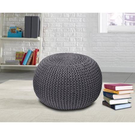 $39 http://www.walmart.com/ip/Urban-Shop-Round-Knit-Pouf/29461610?action=product_interest