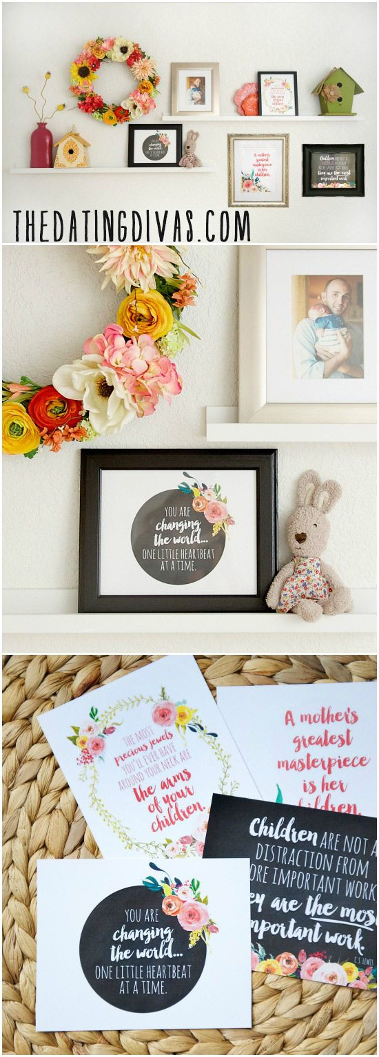 4 FREE Wall Prints – Our Mother's Day Gift to You!