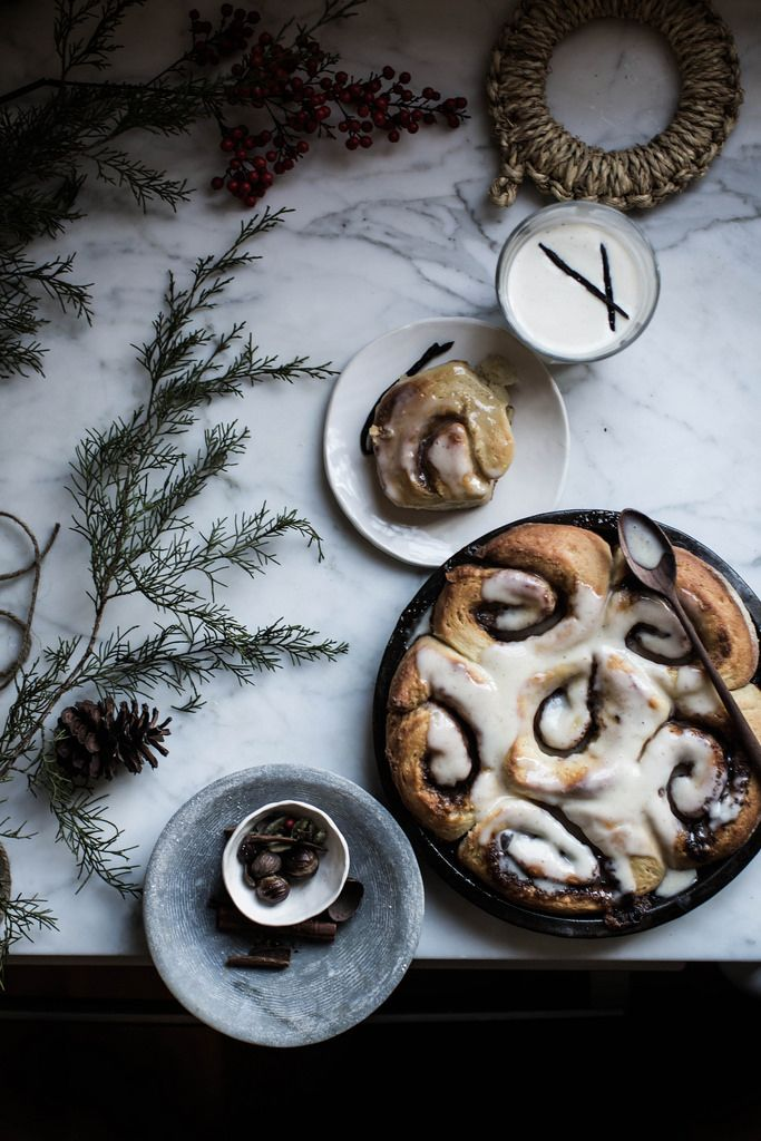 Brown butter and eggnog cinnamon rolls are a perfect treat for Christmas morning. | Downton Abbey, as seen on Masterpiece PBS