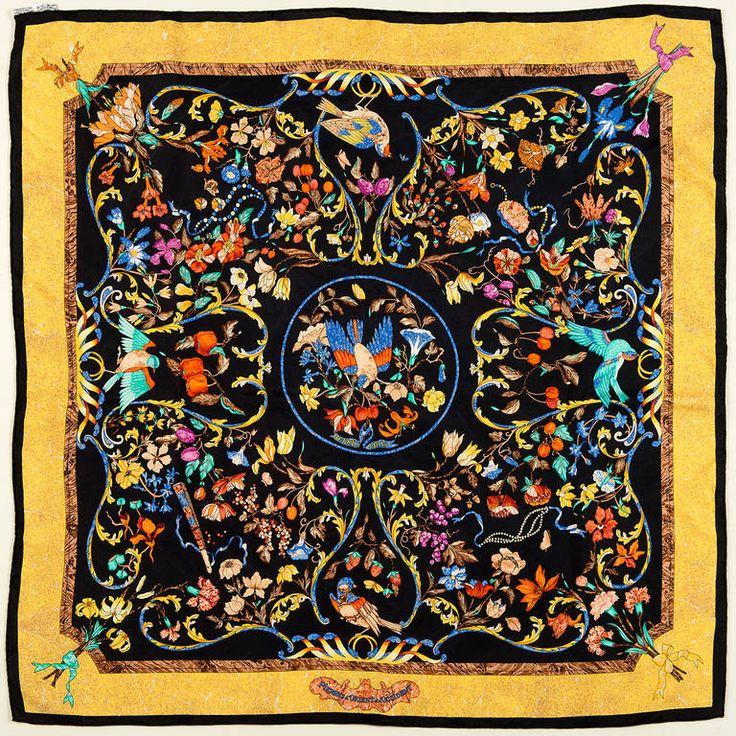 A Rare Hermes Silk Scarf by Zoe Pauwels | From a collection of rare vintage scarves at https://www.1stdibs.com/fashion/accessories/scarves/