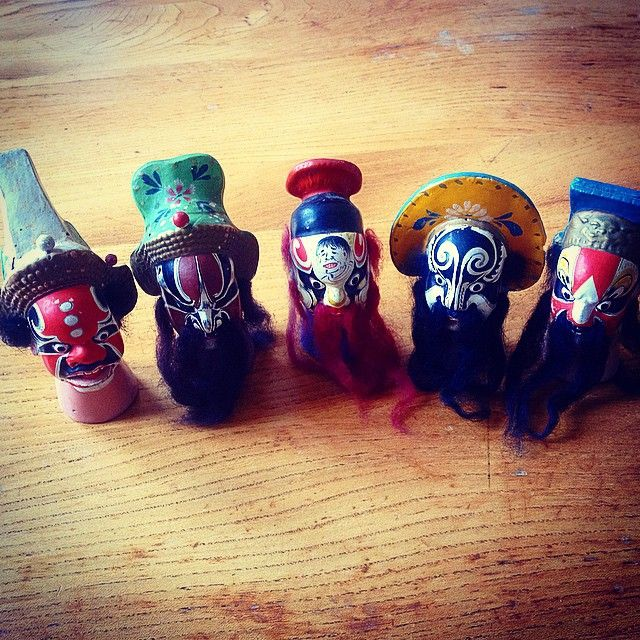 Late 19th Century Chinese Terracotta Finger Puppets @somebodyandsons