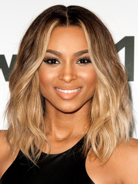 Ciara�s standout honey blonde highlights brighten up her beachy, textured bob. Ask your colorist for an ombr� spectrum, leaving roots darkest and your tips sunny blonde.Photo Credit: Getty Images, courtesy of iVillage - via StyleList
