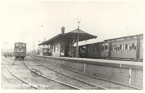 Essendon Railway Station 1908 by mvlslibrary, via Flickr