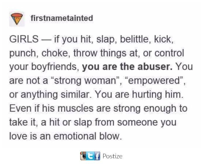 Thank you. I'm glad to see this rather than more women hating on men (not all women)
