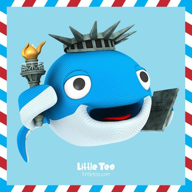 The whale of liberty. Visit LittleTeo.com to see more.