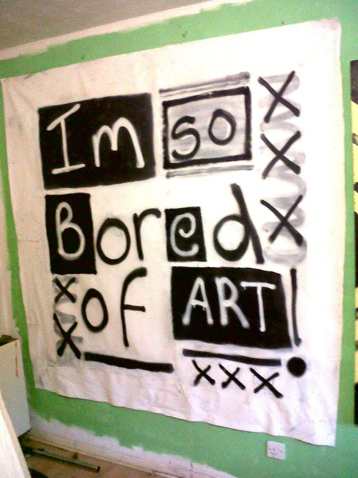 Im so bored 2015 spray on canvas 2m x 2m