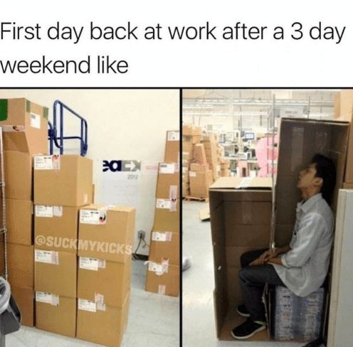 13 Memes You Should Send Your Co-Workers After A Long Weekend | Someecards Memes