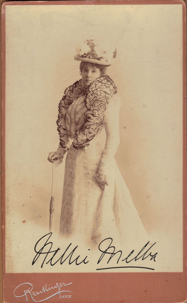 Vintage postcard/promotional card, Dame Nellie Melba, Australian opera singer. Early 1900s, Reutlinger