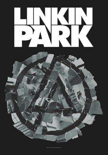"""Drapeau Musique LINKIN PARK """"Pieced Logo"""" - Drapeau Avec les…"""