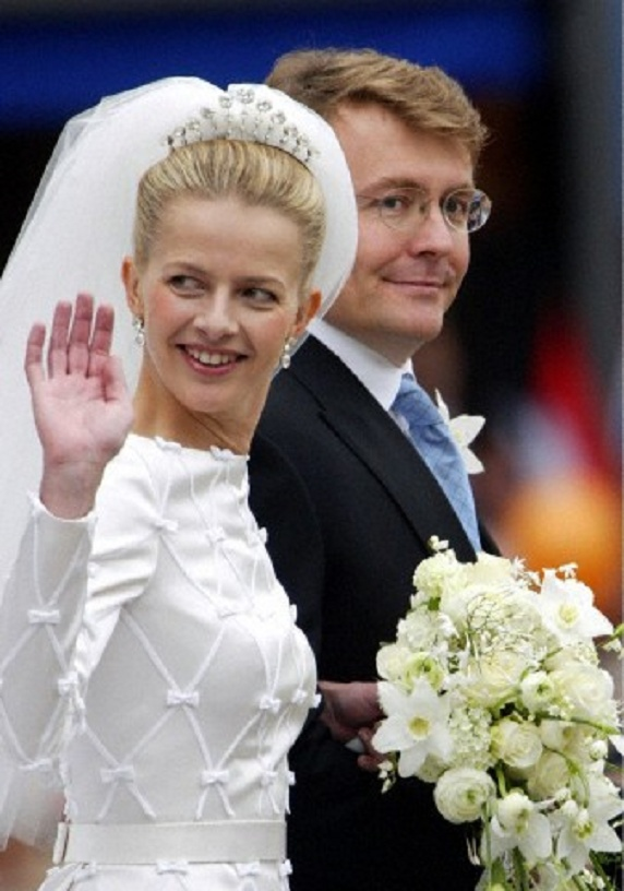 Dutch Prince Johan Friso (R) and his bride Mabel Wisse Smit wedding on 24 Apr 2004 in Delft, Netherlands