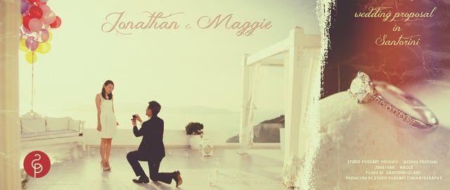 Wedding Proposal in Santorini Greece | Jonathan & Maggie | by Phosart