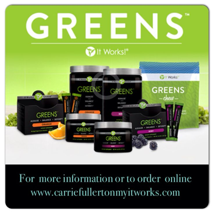 The Greens by It Works detoxify alkalize & energize naturally