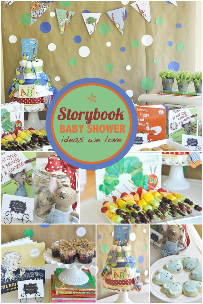 A Storybook Themed Baby Shower - Spaceships and Laser Beams.  Create a foundation of literacy for your child.
