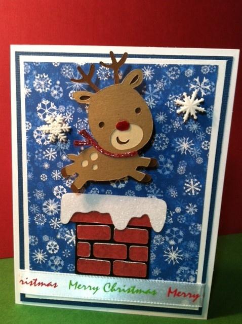 Christmas card with the cricut. Create a critter