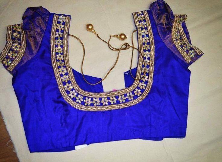 Hand embroidery designs on blouses makaroka