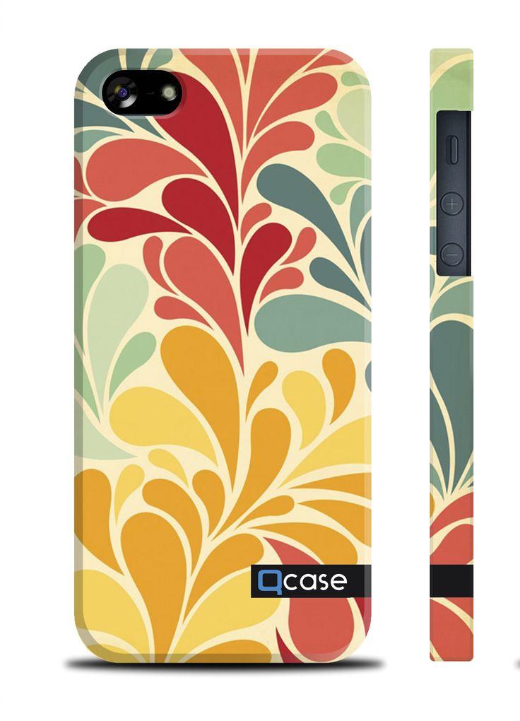 Чехол QCase для iPhone 5 | 5S Vetochki (пластиковый чехол, защитная пленка, заставка) купить в интернет-магазине BeautyApple.ru.